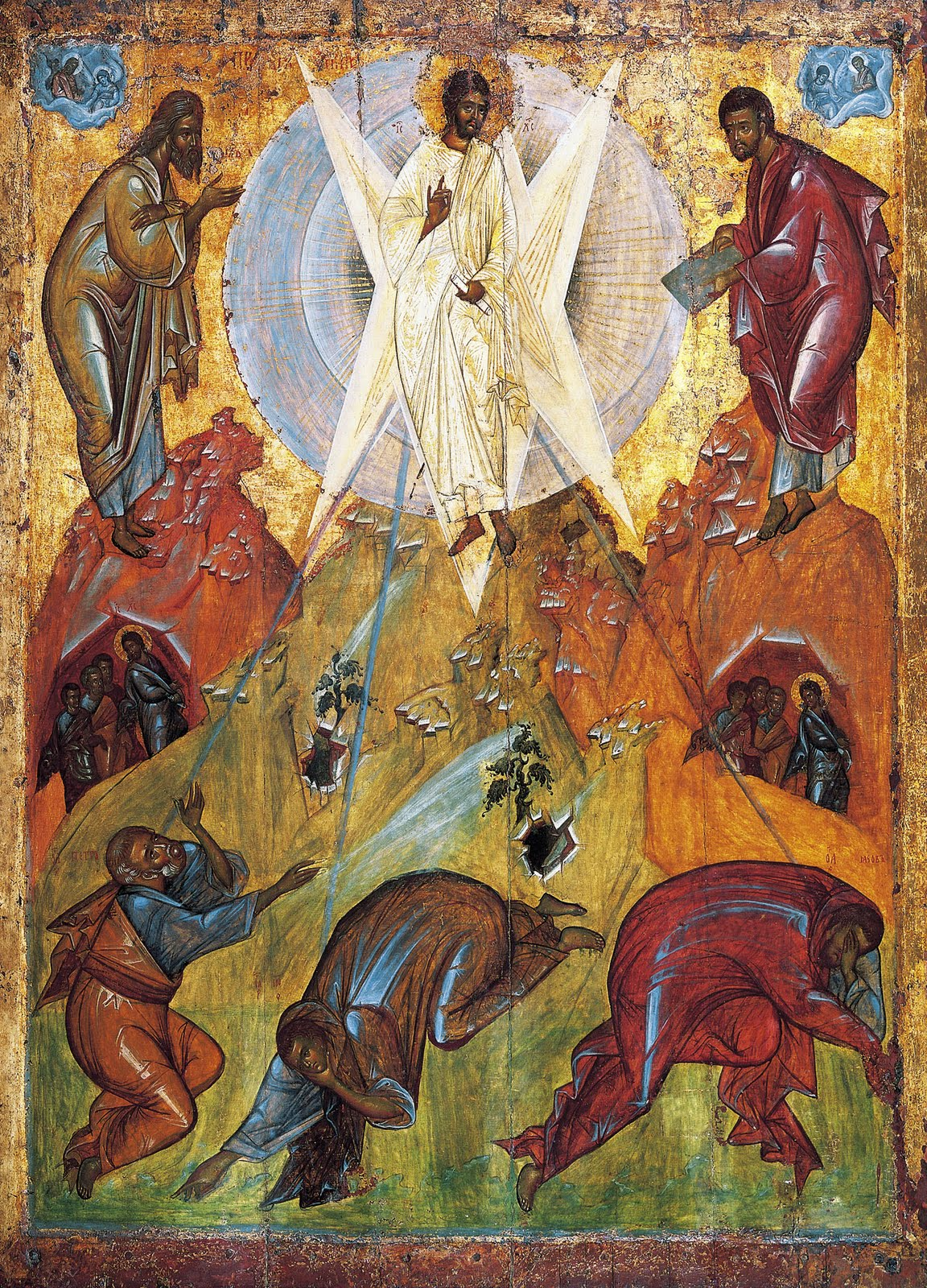Aug 06 - The Saviour's Transfiguration, an early-15th century icon from the Tretyakov Gallery, attributed to Theophanes the Greek